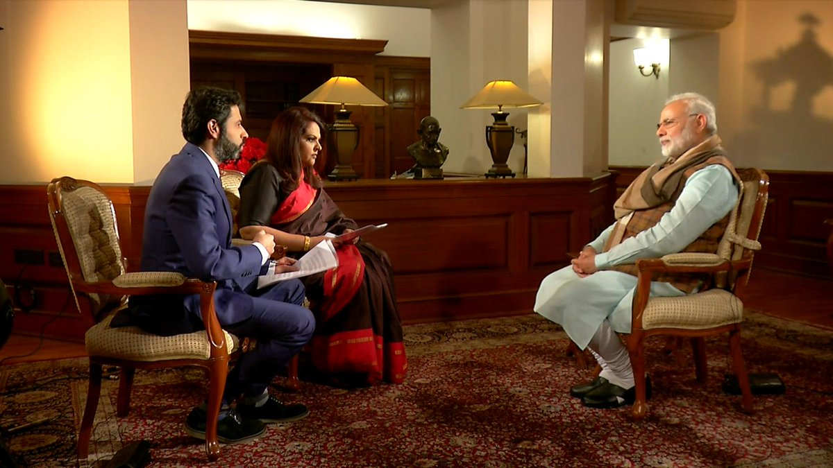 Watch LIVE: PM Shri @narendramodi's interview on Times Now. #PMModiSpeaksToTimesNow https://t.co/t2eHGRcXhd