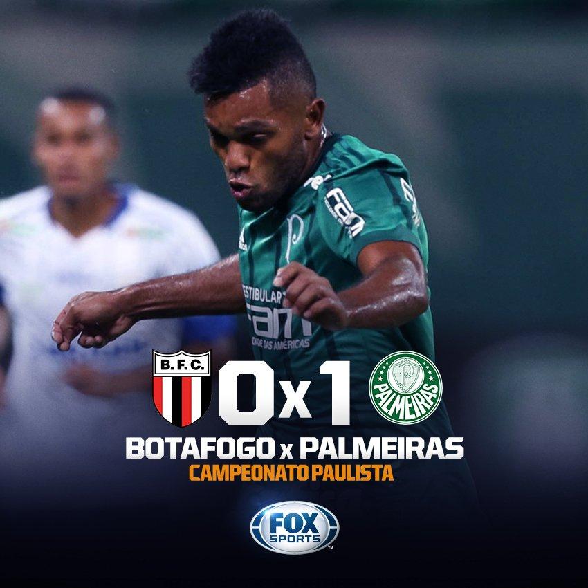 VITÓRIA MAGRINHA! @Palmeiras bate @BotafogoSP com gol de Borja!