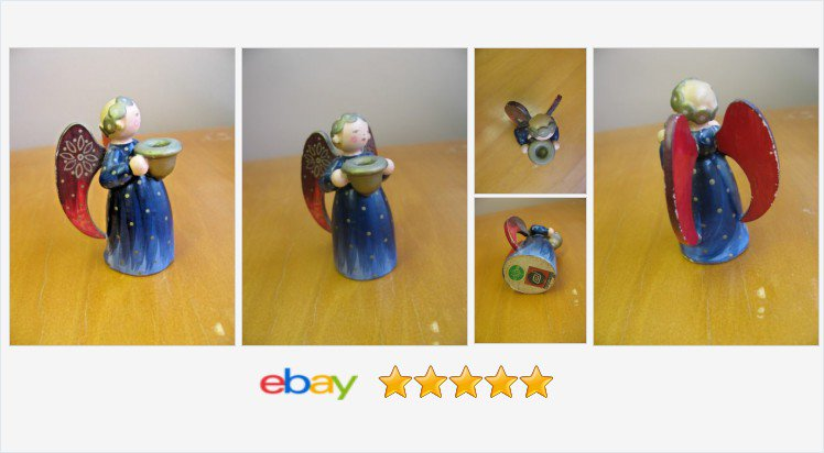 #ERZGEBIRGE Wendt Kuhn Miniature #ANGEL Figurine #Germany Candle Holder Expertic | eBay  https://t.co/s0rejSN4H9 https://t.co/PiOXSrB3FS