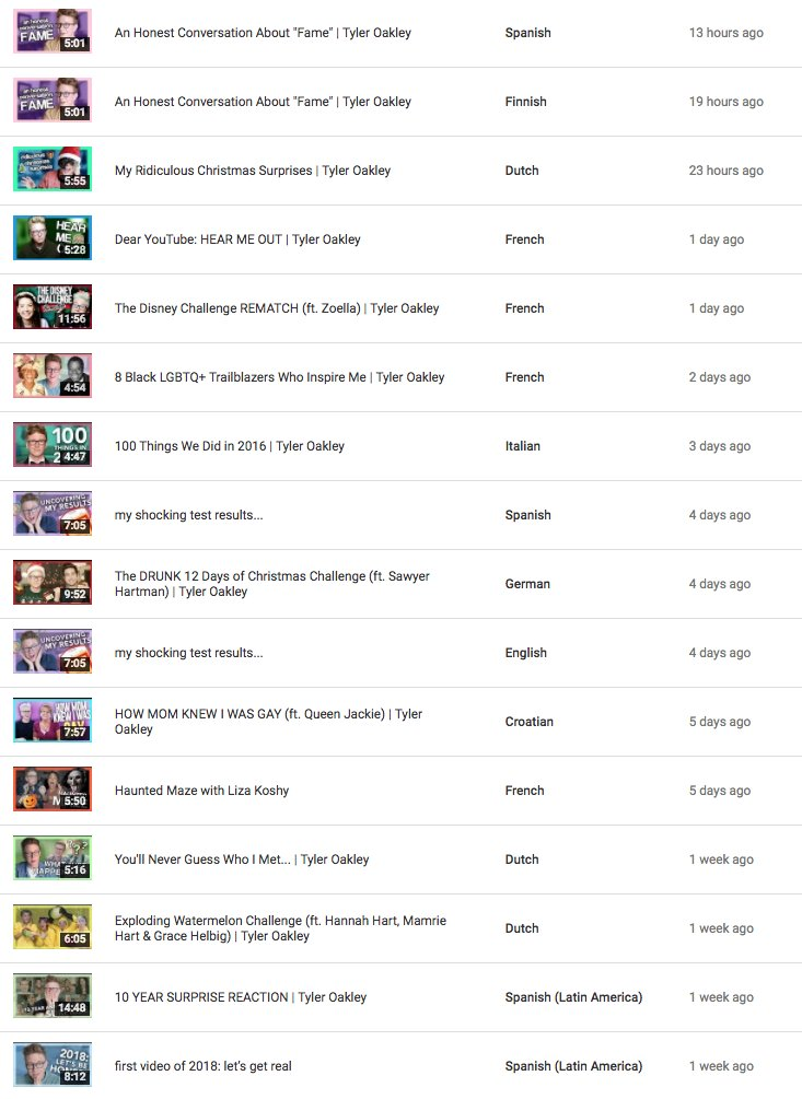 here's this week's batch of https://t.co/U8kn0yOpsA videos with captions translated into other languages. thanks for doing this, viewers!! i appreciate you!!