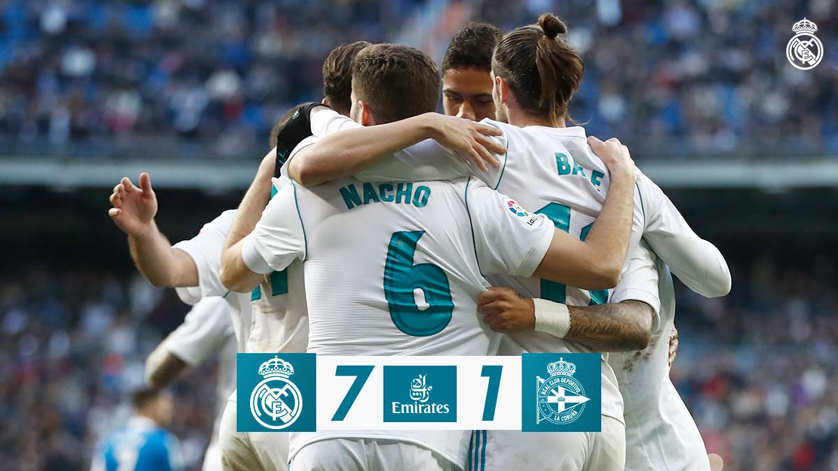Chấm điểm: Real Madrid 7-1 Deportivo