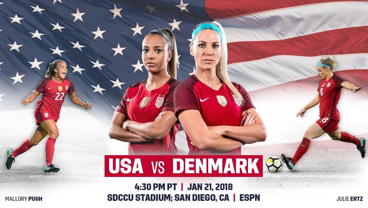 📅 - TODAY ⚽️  -USWNT vs Denmark  ⏰  - 7....