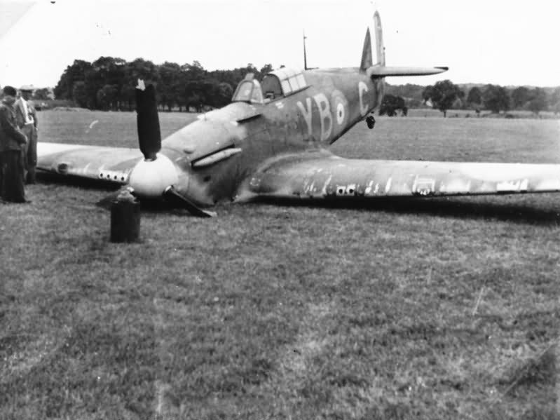 Hurricane of No 17 Squadron code YB-C cr...