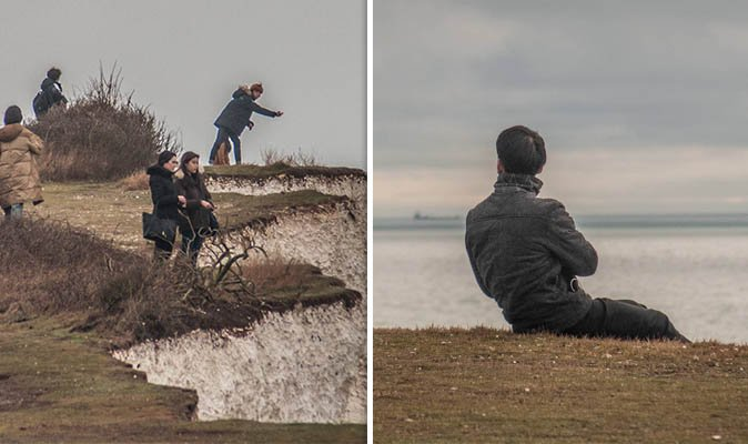 Reckless tourists risk their lives for PERFECT SELFIE on crumbling 400ft cliff https://t.co/ilxnTbe22u https://t.co/XD9lX5cmxm
