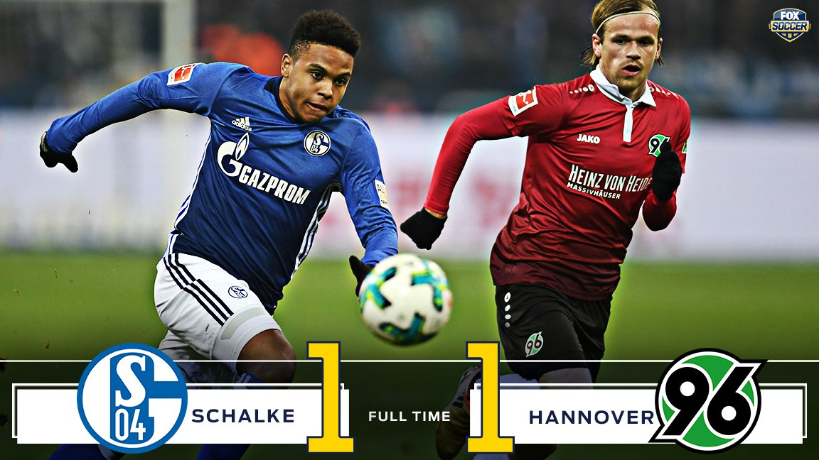 Schalke give up a late equalizer and miss out on a chance to jump up to 2nd place.