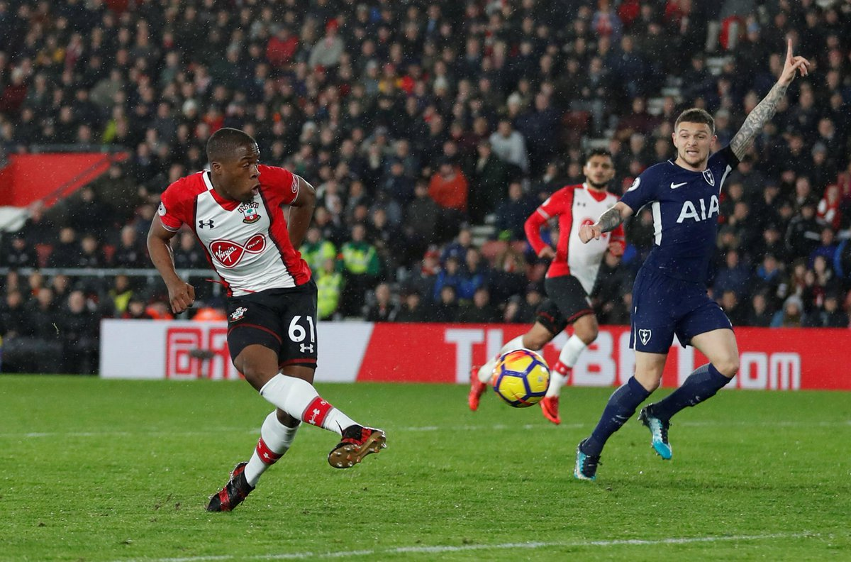 Aged 17 years, 199 days, Michael Obafemi is the 2nd youngest player to make a #PL appearance for @SouthamptonFC after @LukeShaw23 (17y 116d)