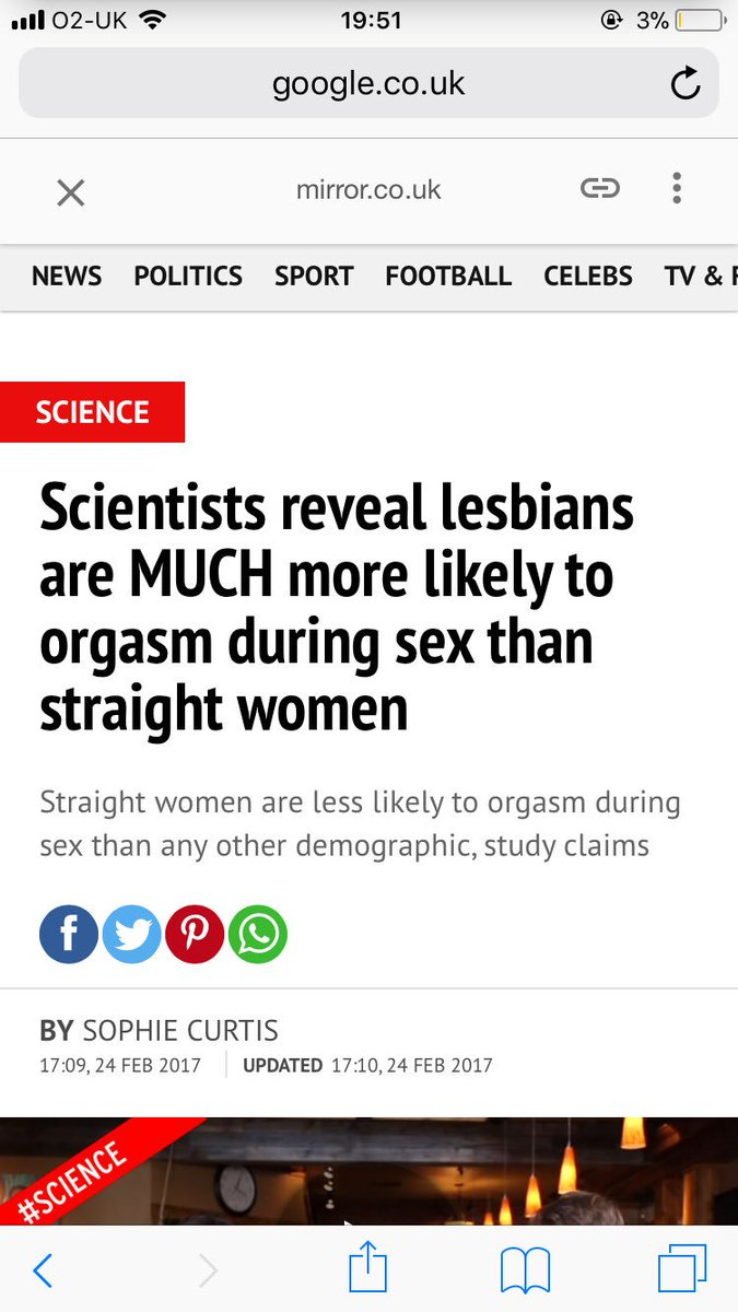 Think, that Lesbians have an orgasm rate