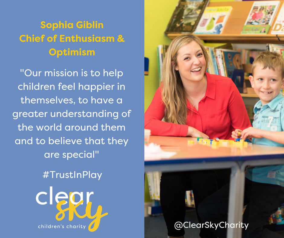 test Twitter Media - Sophia, 'Chief of Enthusiasm & Optimism' launched Clear Sky to help children struggling emotionally #TrustInPlay #CYPMH https://t.co/PDbCeCFUUa