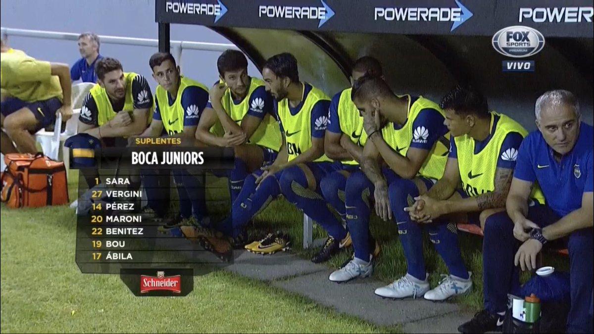 "La12tuittera ⑫ on Twitter: ""El banco de suplentes de #Boca… """