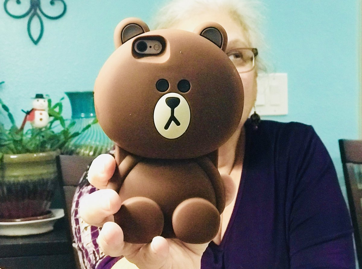 Best daughter? I got my mom this giant teddy bear phone case for Christmas! 🐻 😂 She loves it!