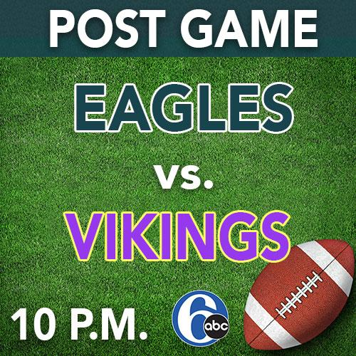 HEY EAGLES FANS! Immediately following tonight's battle, we will be live on 6abc breaking down the game. Join us! 🏈
