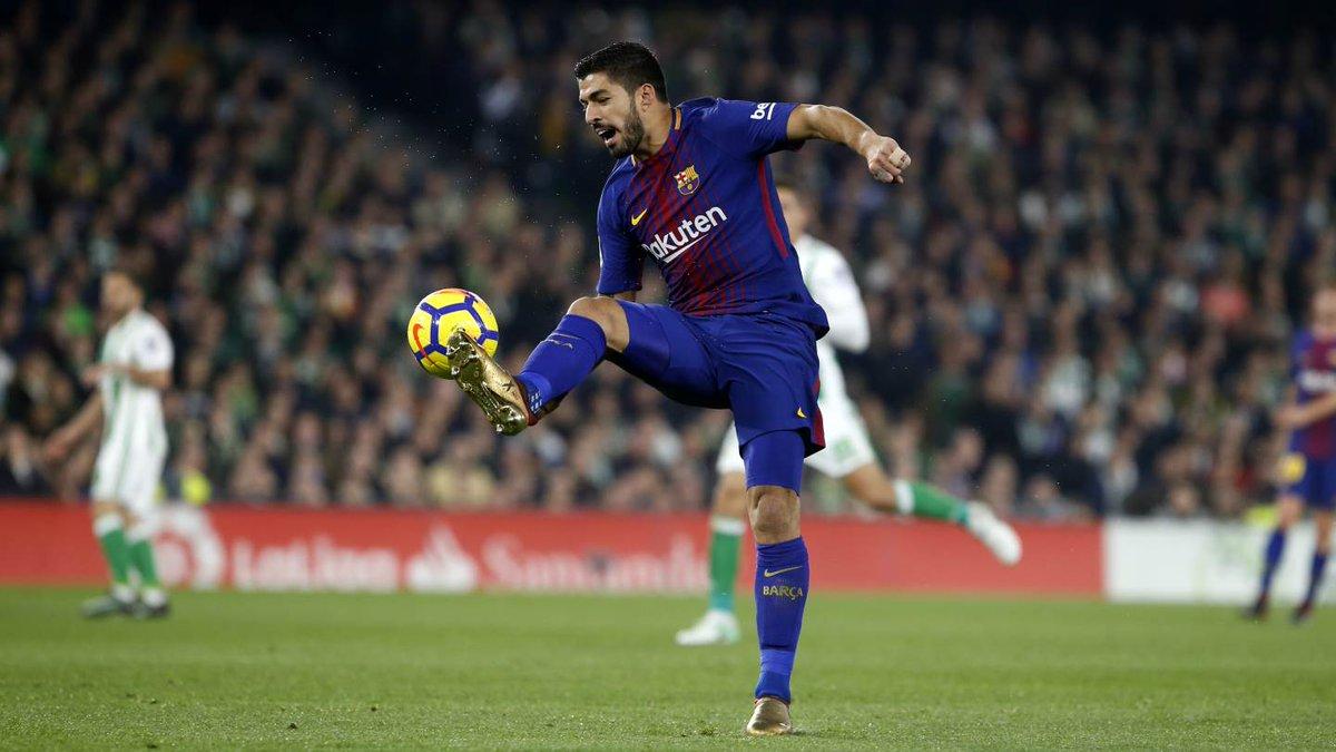 💥 Leo #Messi - 18⚽ 💥 @LuisSuarez9 - 14⚽  Two top scorers in @LaLigaEN  🔵🔴 #ForçaBarça https://t.co/wVUVCPVrU8