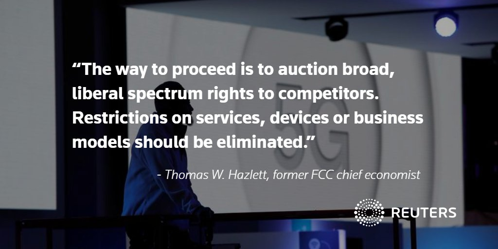 Thomas W. Hazlett writes in @ReutersOpinion: The best way for the FCC to enable a 5G future https://t.co/JWdJ412rUm