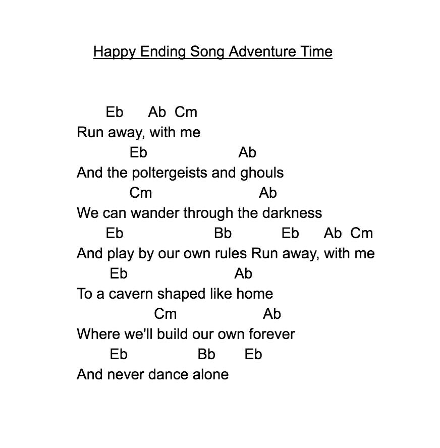 Ladylauren On Twitter Happy Ending Song Adventure Time Ukulele