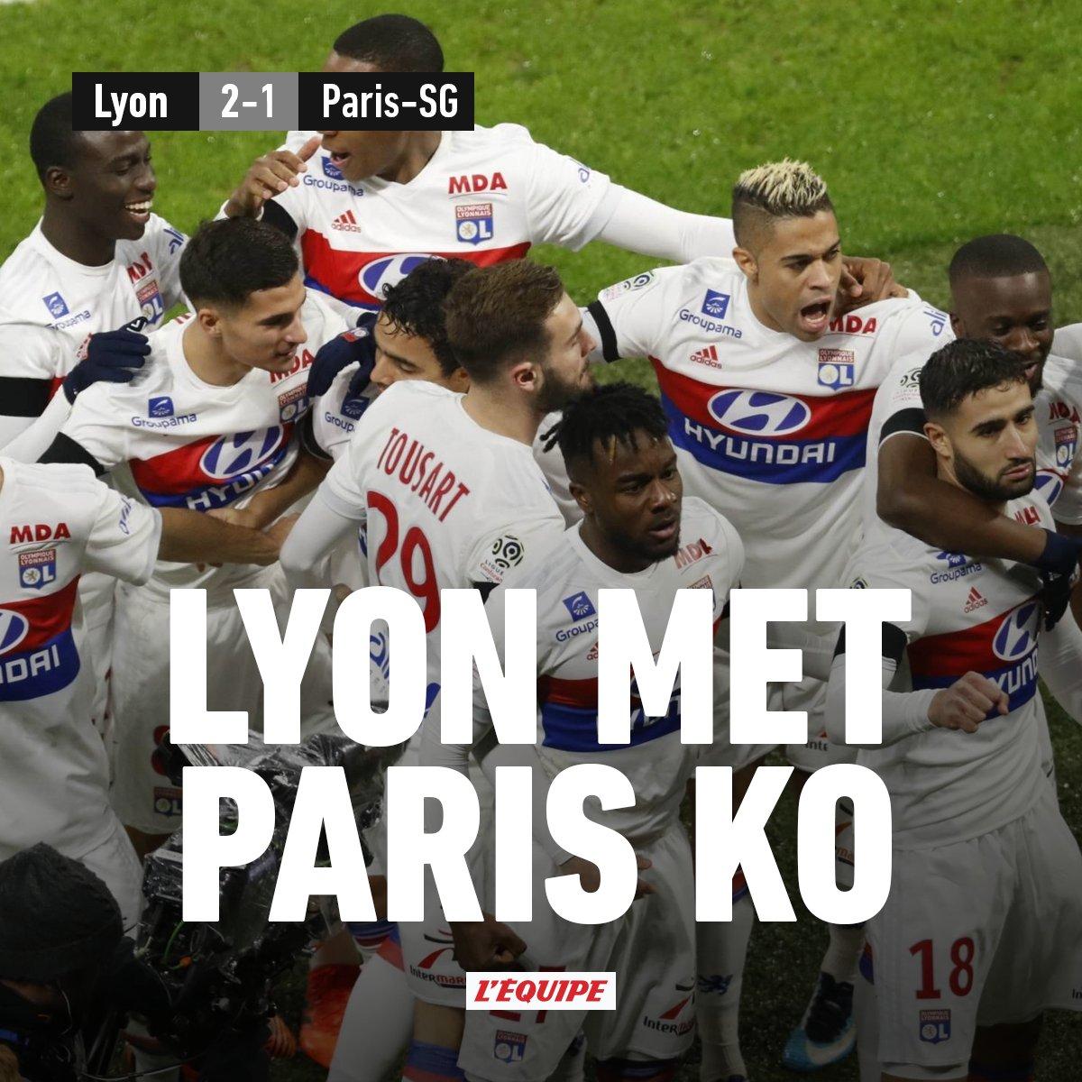 Sans Neymar ni Mbappé, le PSG perd à Lyon, qui reprend la deuxième place ow.ly/u2vH30hUyvn