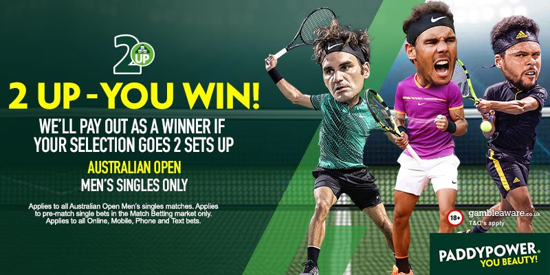 2 Up offer on the #AusOpen! We pay out immediately if the player you back goes two sets up! https://t.co/yVwBuRqGWh