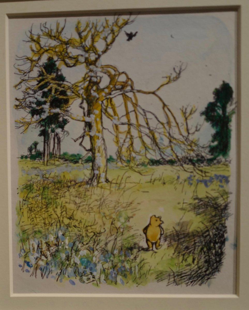 The genius of A.A. Milne & E.H. Shepard #WinnieThePooh @V_and_A