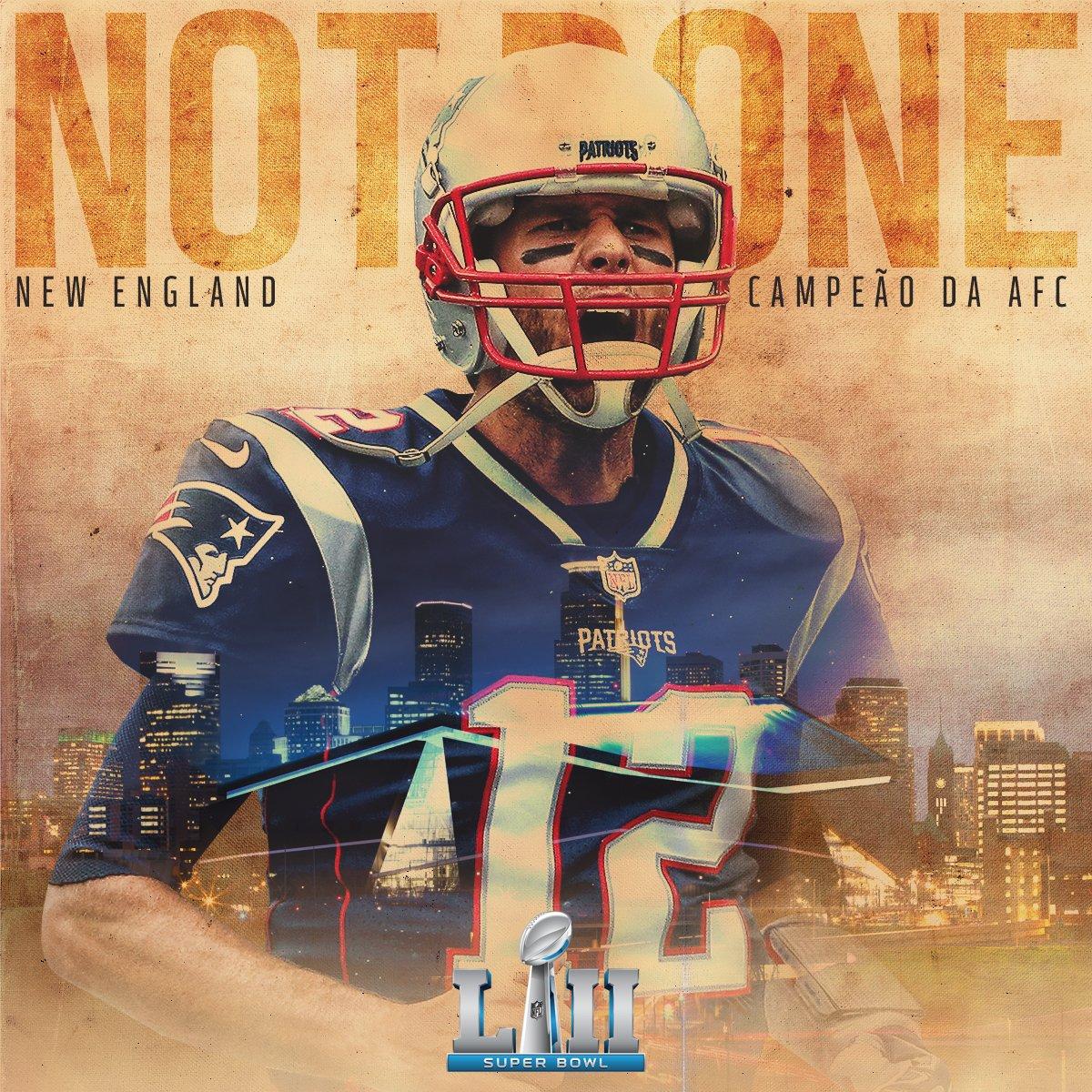 RT @NFLBrasil: O @Patriots é o Campeão da AFC e 1º time confirmado no #SuperBowl LII! #NFLBrasil https://t.co/MeiXdSShU8