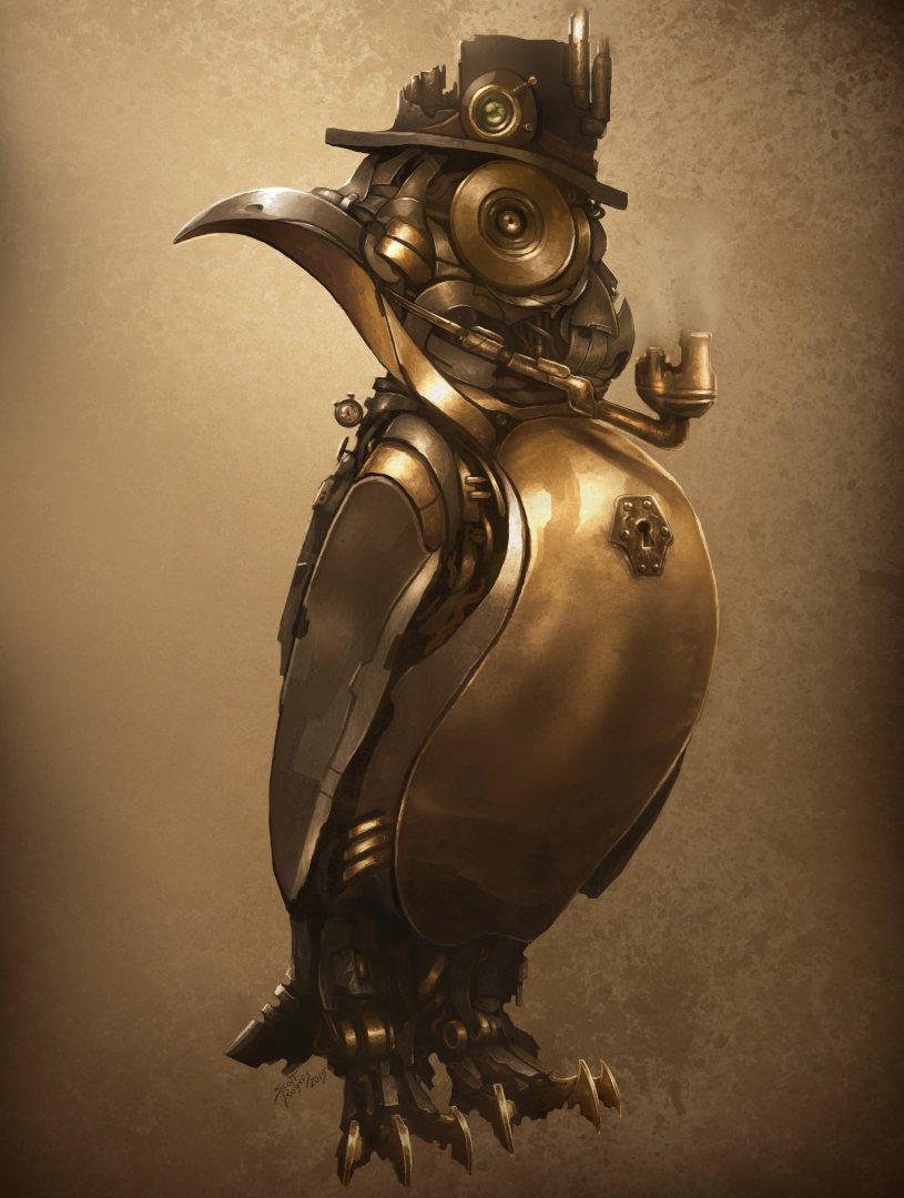 Title:  Steampunk Penguin  #art #steampunk #penguin