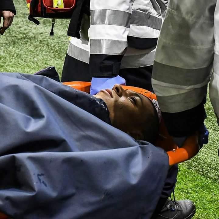 إصابة خطيرة لمبابي فى مباراة باريس سان جيرمان وليون