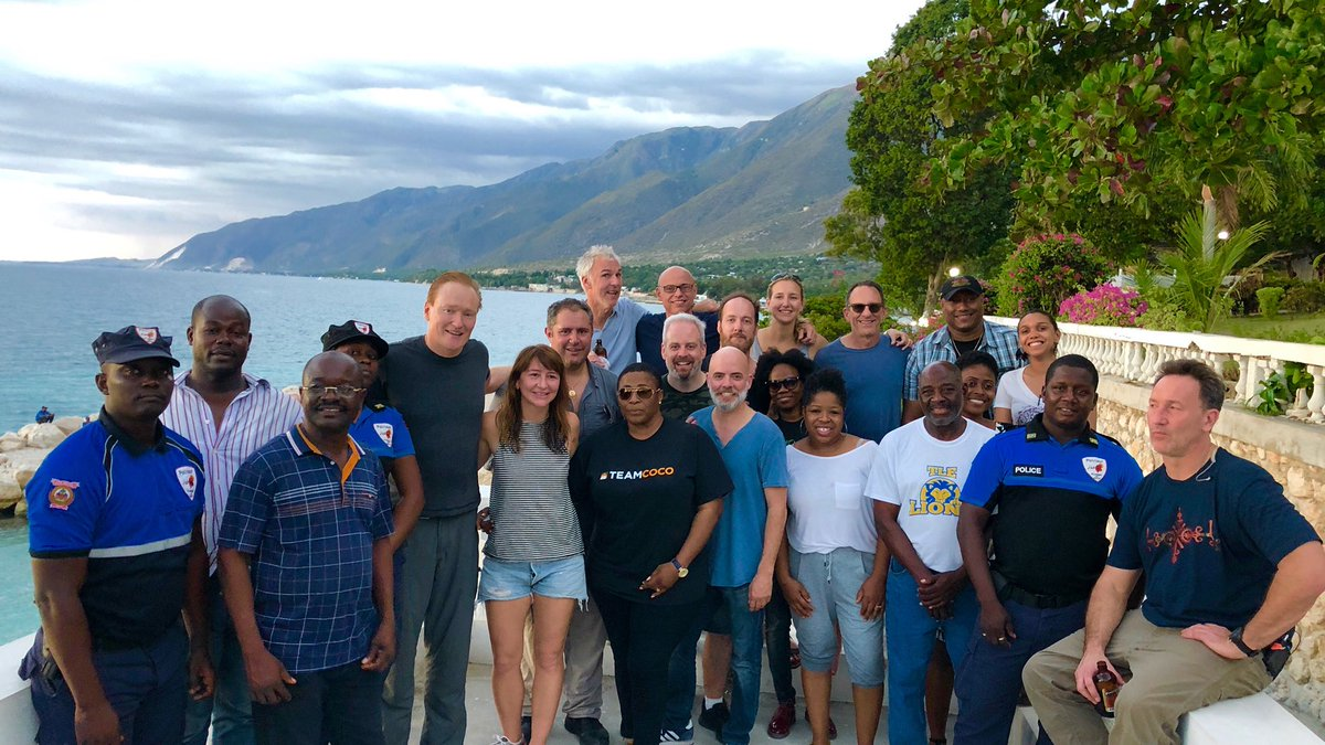 That's a wrap on #ConanHaiti! Thank you to the people of #Haiti for their warmth, hospitality and humor - and a special thank you to our excellent Haitian crew for making it all possible. Make sure to watch  this Saturday night at 10/9c on .@TBSNetwork