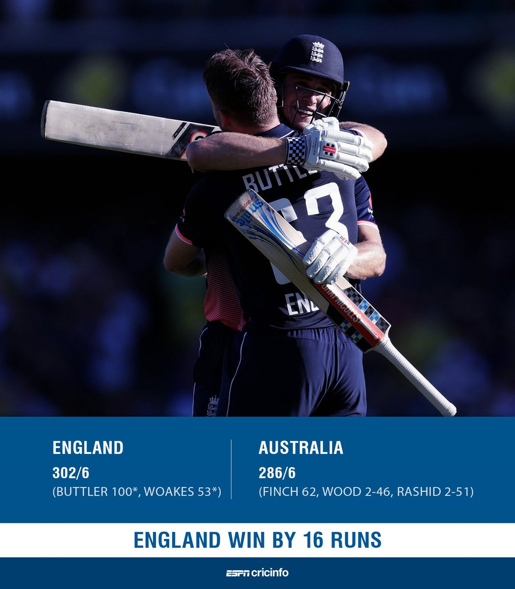 #TVratings Sunday #cricket ODI #AUSvENG #Nine #WWOS Session 1: 1.237 million (5 City: 846,000 / Regional: 391,000) Session 2: 1.521 million (5 City: 1.034 million / Regional: 487,000)