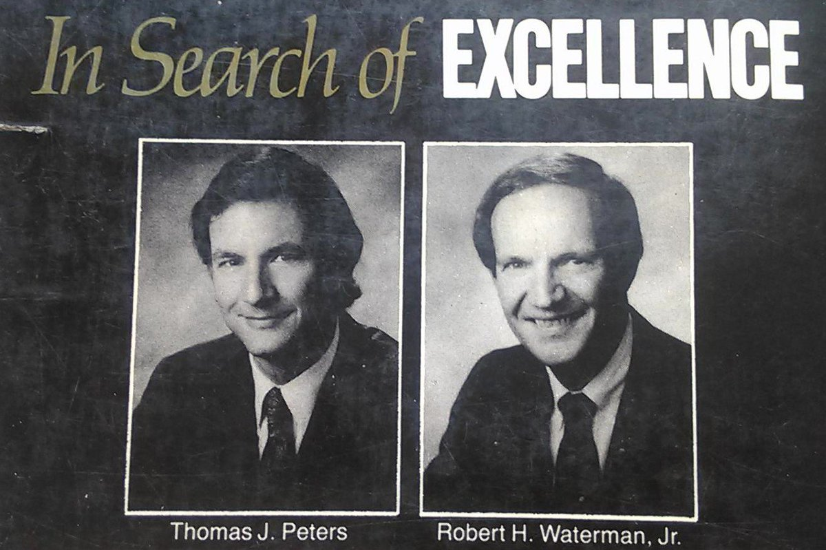 "Tom Peters On Twitter: ""My In Search Of Excellence Co"