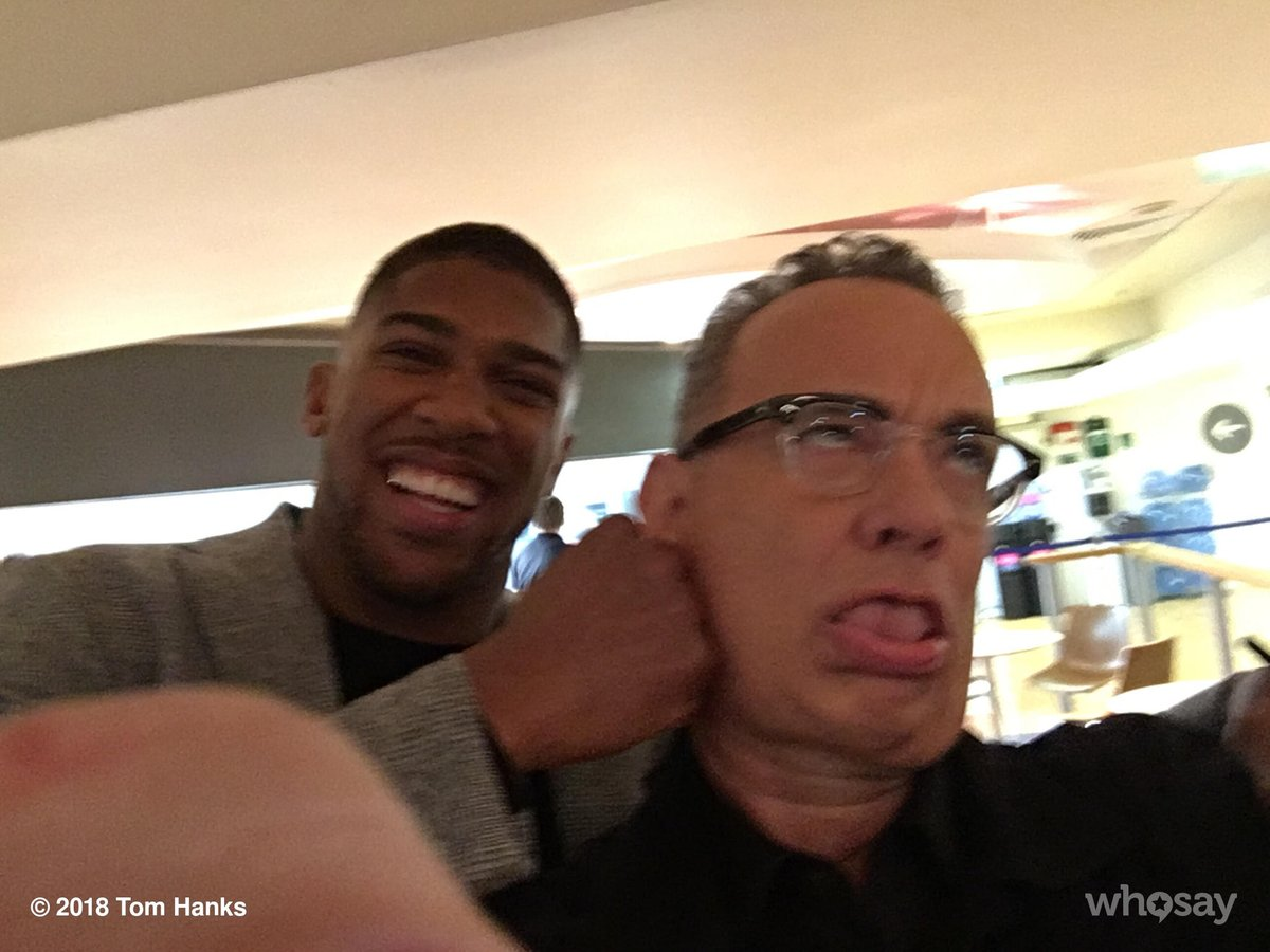 Tom Hanks On Twitter Met Champ Anthony Joshua In Uk The Graham Norton Sho Oooof Hanx