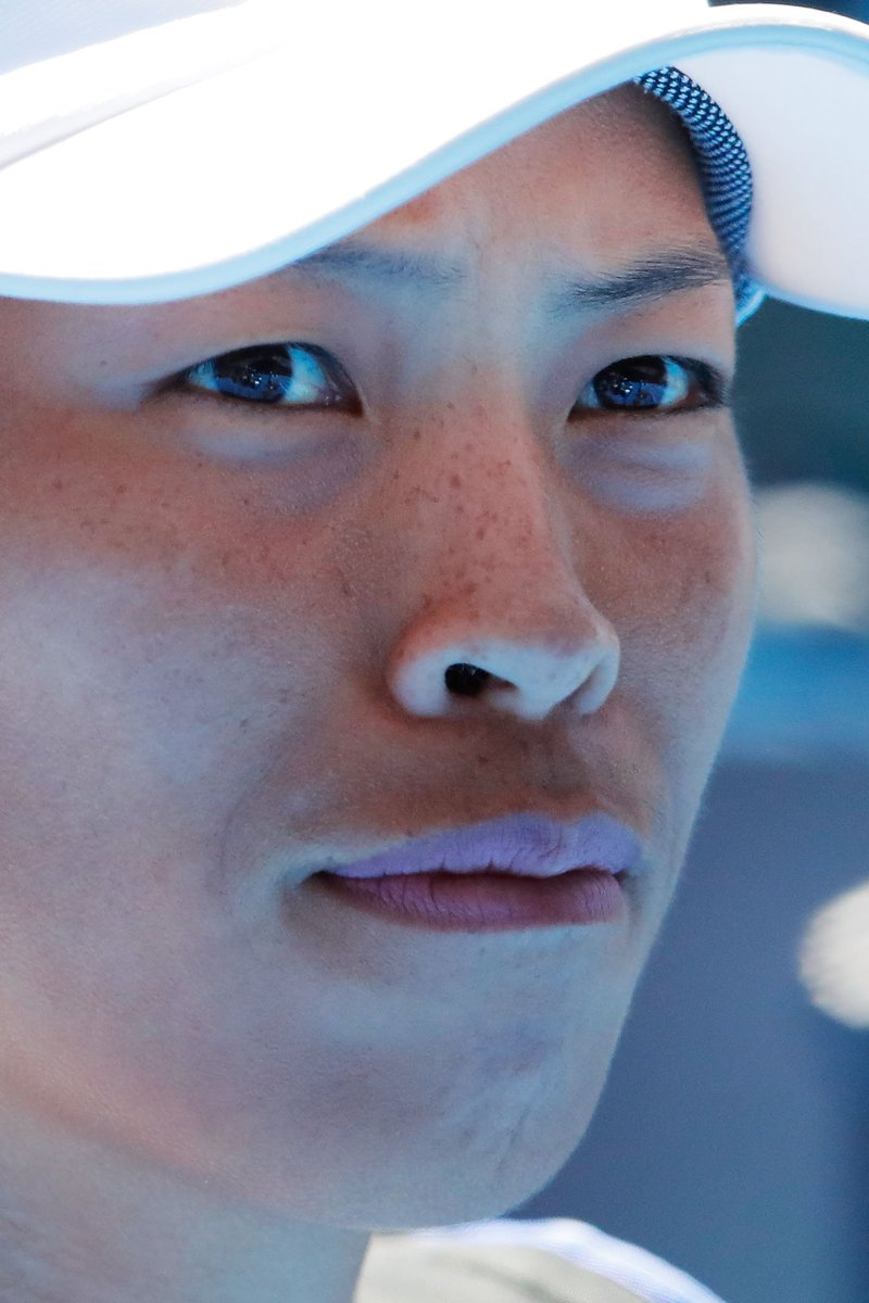 'The first two game for me was not easy, because I was thinking, Oh, that's Kerber.'  Well, you didn't show it, Su-Wei Hsieh. 😄😄  #AusOpen