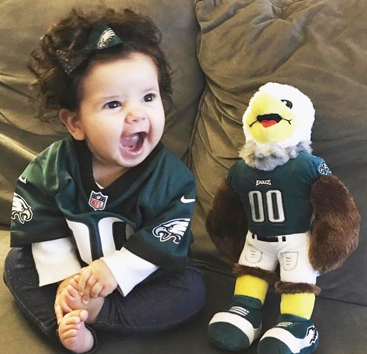 The face you make when your @Eagles are up 31-7. (📸: rebeccakatescreations/Instagram)