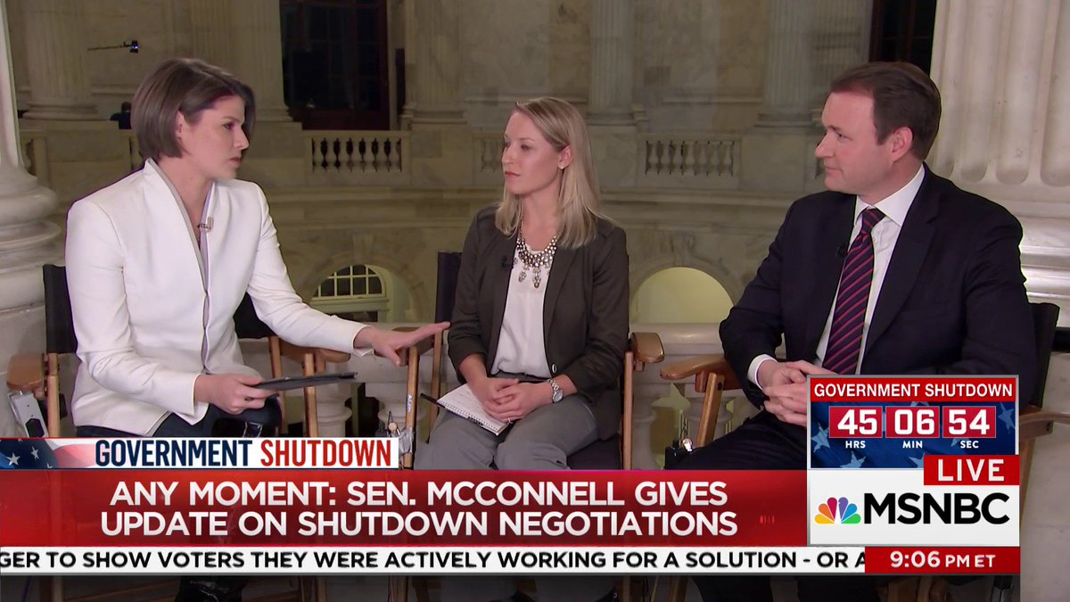 As government shutdown continues to unfold Sunday night, Sen. McConnell will speak soon on the US Senate floor.  Watch live with @kasie now on @MSNBC.