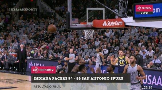 RT @canaldeportv: [FINAL] #Pacers fue mejor que #GoSpursGo y, de visitante, lo derrotó por 94-86. #NBAenDEPORTV https://t.co/5U0ZRqAcIM