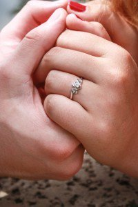 Breaking tradition: An engagement ring w...