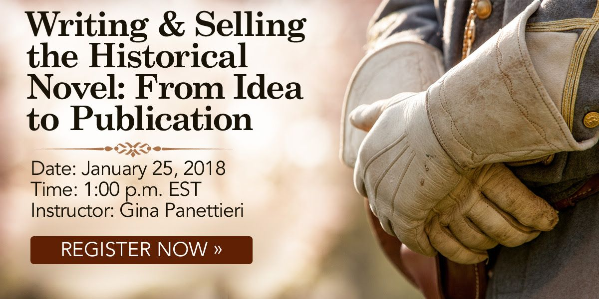 Join us for a live #webinar Thursday, January 25, 2018 at 1pm EST: Writing & Selling the Historical Novel: From Idea to Publication with Gina Panettieri https://t.co/qJb8kMF8TX