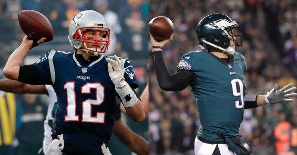 With @Patriots &  bot@Eaglesh advancing to , it#SuperBowLII's 13th time Super Bowl will feature top seeds (since 1975 when  cha@NFLnged playoff format to base home field adv. on regular season winning %). 2015 = last time top seeds both advanced to Super Bowl. #NFLPlayoffs