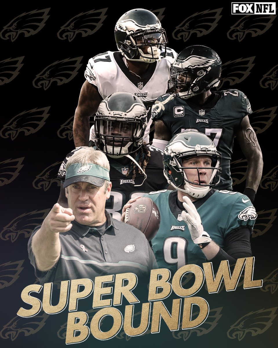 RT @NFLonFOX: The @Eagles are going to the Super Bowl! https://t.co/jesde3EIb7