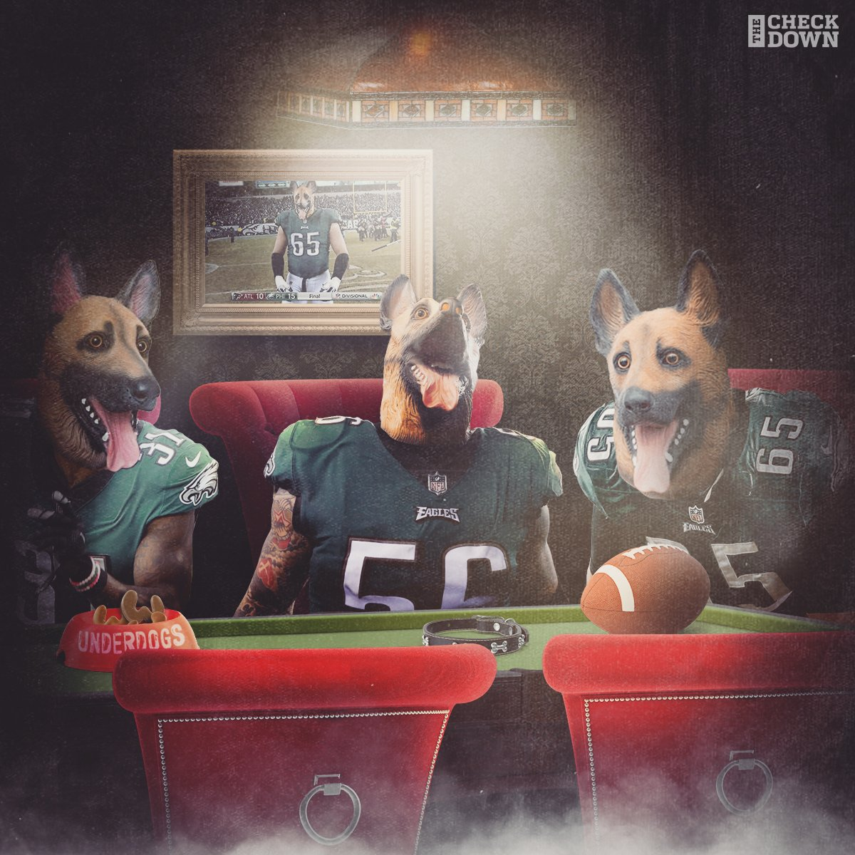 Underdogs? NOPE!  The @Eagles are heading to the @SuperBowl! #FlyEaglesFly #SBLII (via @thecheckdown) https://t.co/Tvs446EBIN