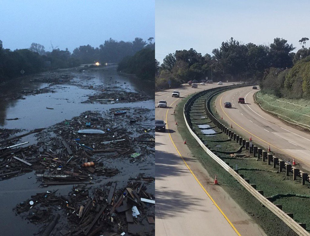 Look at what team work did for the 101freeway. Thanks @CaltransD5 and every crew that made this happen.