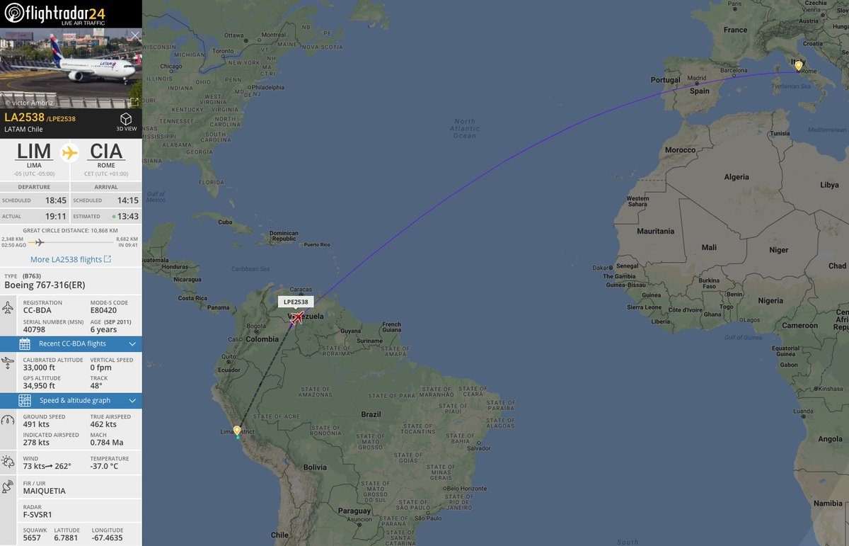 🇵🇪✈️🇮🇹 @Pontifex is returning to Rome following his visit to Chile and Peru.   Follow live at https://t.co/jEytgtQ5En