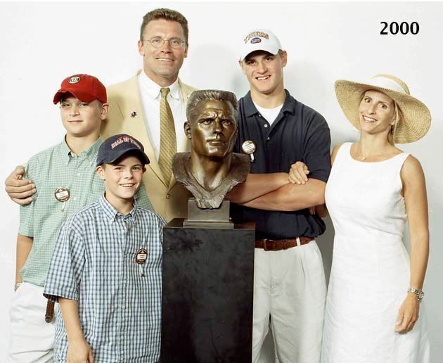 Congrats to Gold Jackets Howie Long and Jackie Slater and their sons (Chris and Matthew) who will play in #SBLII