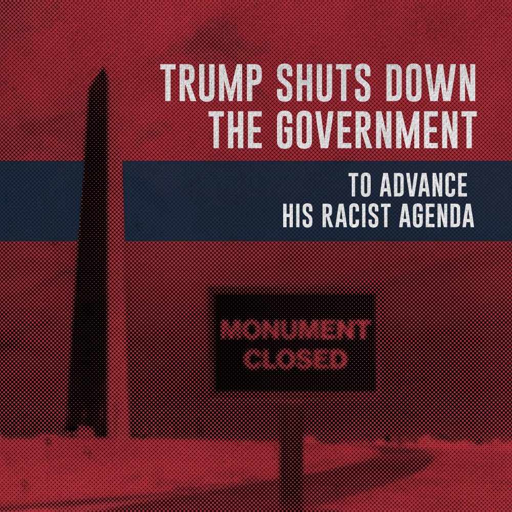 .@realDonaldTrump caused a #TrumpShutdown over his #TrumpMeltdown over his #TrumpWall. This is outrageous. Congress, do your job, open the government & pass a clean !#DreamActNow