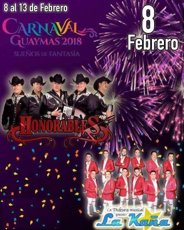 artistas carnaval guaymas 2018