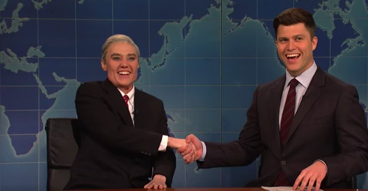 I'm so tickled by Kate McKinnon as Robert Mueller https://t.co/YQTT3r6F1m