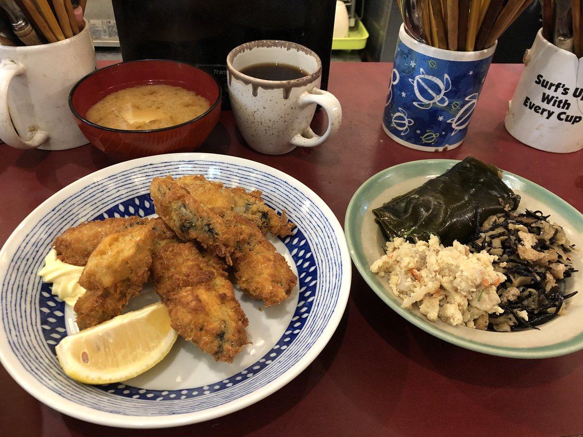 今日の米花さん築地朝ごはん。カキフライ、卯の花、ひじき、鰊の昆布巻き。 #tsukiji #築地 #築地市場 #築地米花 #yummy #米花 @tsukji_yonehana ごちそうさまでした。今週もありがとうございます。 https://t.co/KGIM2uZfqw