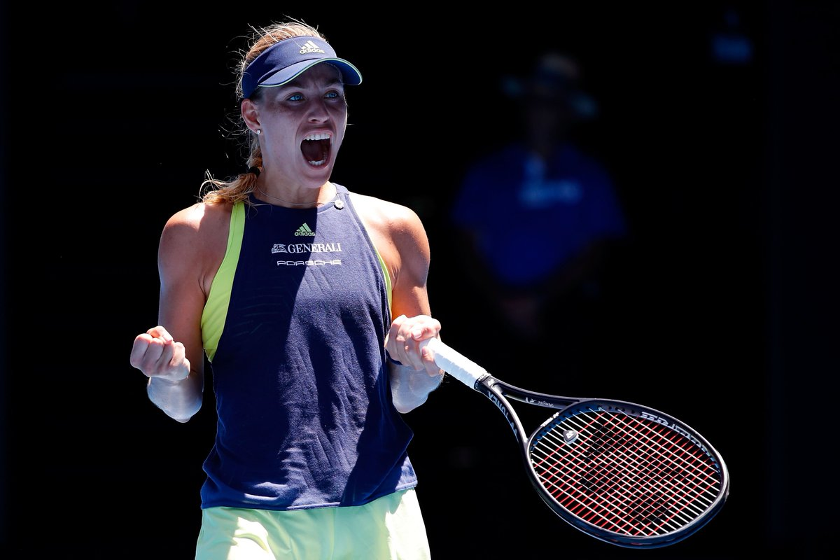 Onto the quarters!!  @AngeliqueKerber uses her insane fitness and athleticism to outlast Su-Wei #Hsieh 4-6 7-5 6-2. Up next: Madison Keys.  #AusOpen