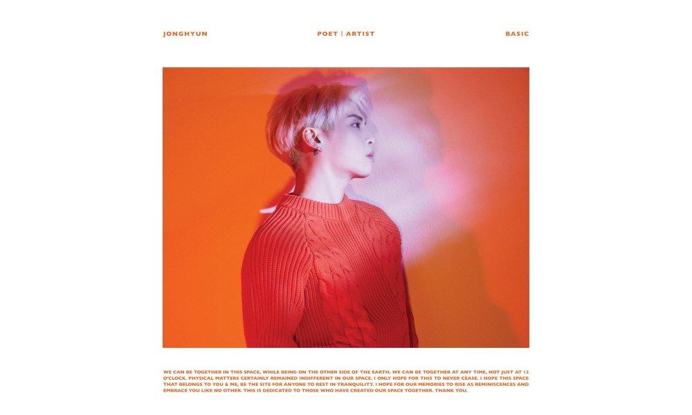 Jonghyun's posthumous album 'Poet | Artist' album cover and tracklist released https://t.co/2P8fKv1DRt
