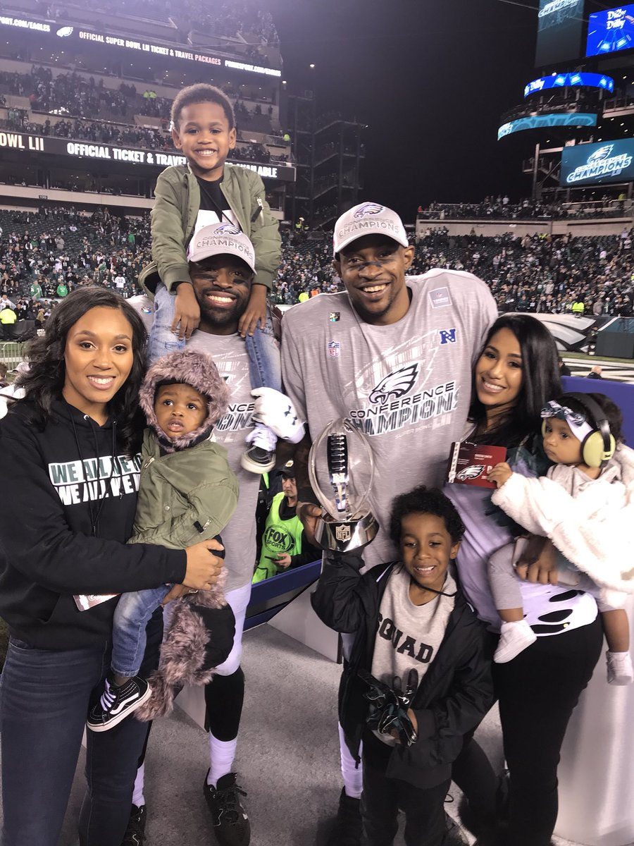 Back in March I remember talking with @TheWorldof_AJ when we made our decision to join the Eagles...it was never about the money...it was about being in this position right now! It's crazy how it all worked out...the good and the bad....1 more to go #backtowork #nfcchamps