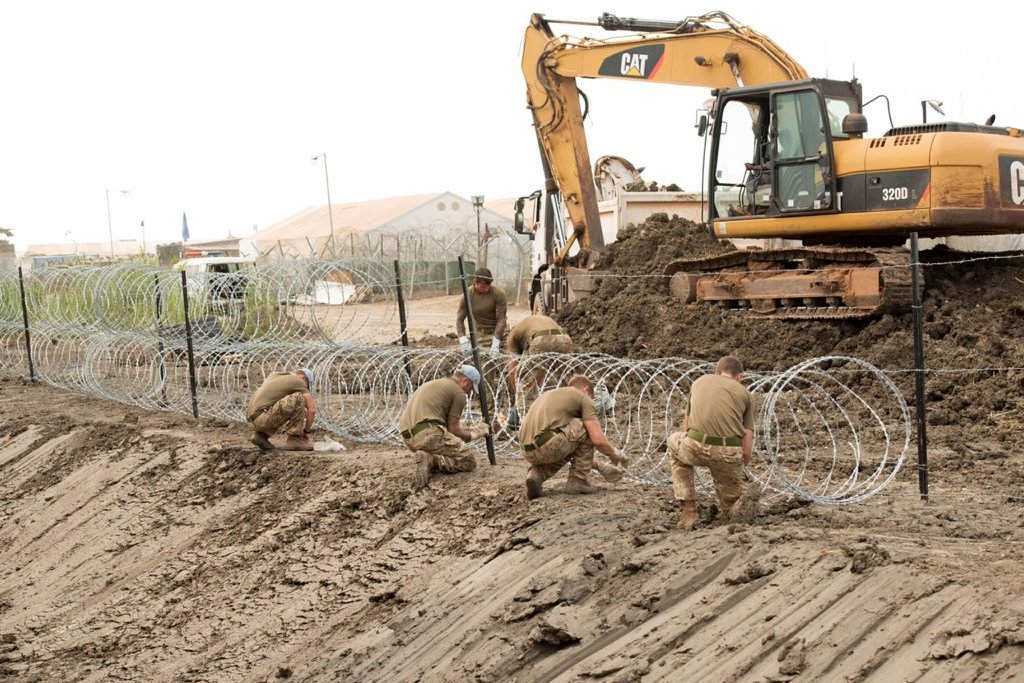 Royal Engineers are carrying out vital improvement works at the United Nations Mission base (UNMISS) base in Bentiu, South Sudan #MondayMotivation