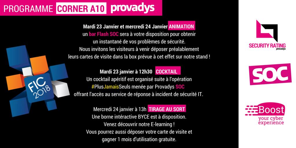 Provadys On Twitter Programme FIC2018 SOC
