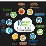 Image for the Tweet beginning: 10 benefits of #CloudComputing?  #DataScience #Bigdata